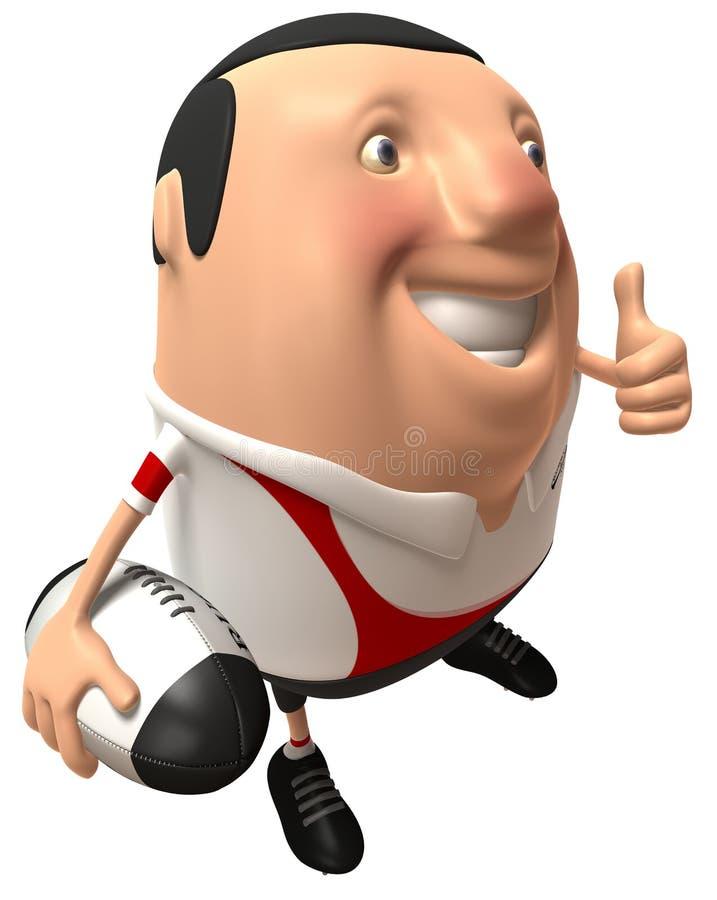 Jogador do rugby ilustração do vetor