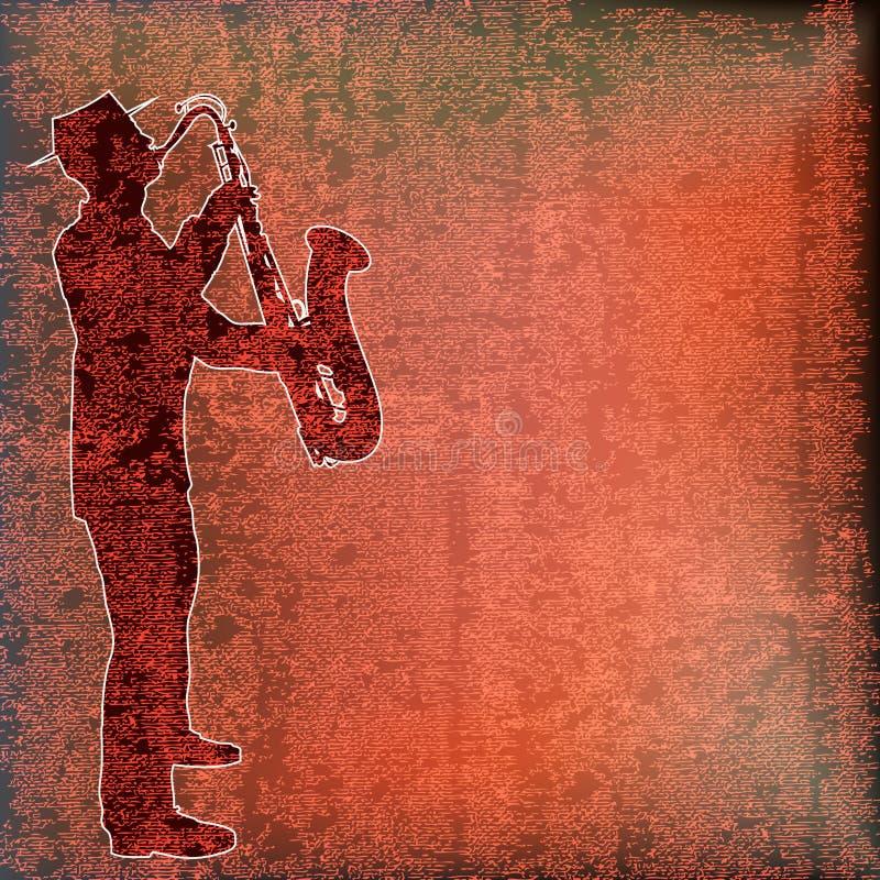 Jogador do saxofone ilustração royalty free