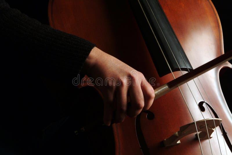 Jogador do violoncelo imagens de stock