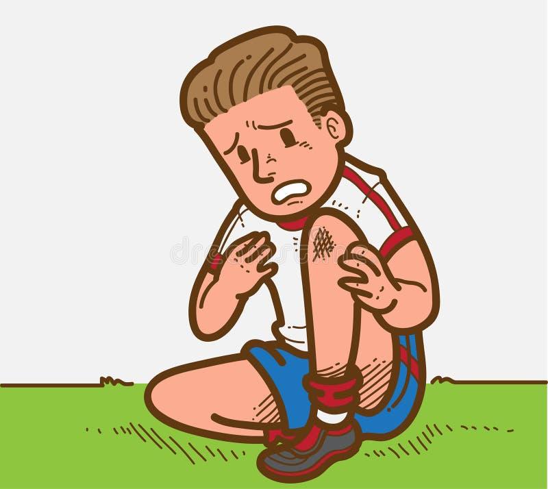 Jogador ferido ilustração stock