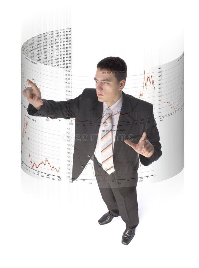 Jogador futuro do mercado de valores de acção imagem de stock royalty free