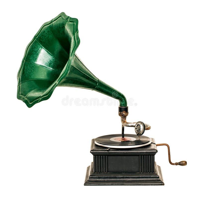 Jogador gravado de gramofone do vintage foto de stock