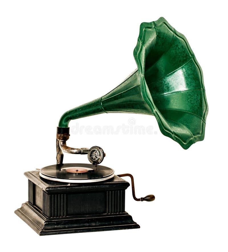 Jogador gravado de gramofone do vintage fotografia de stock