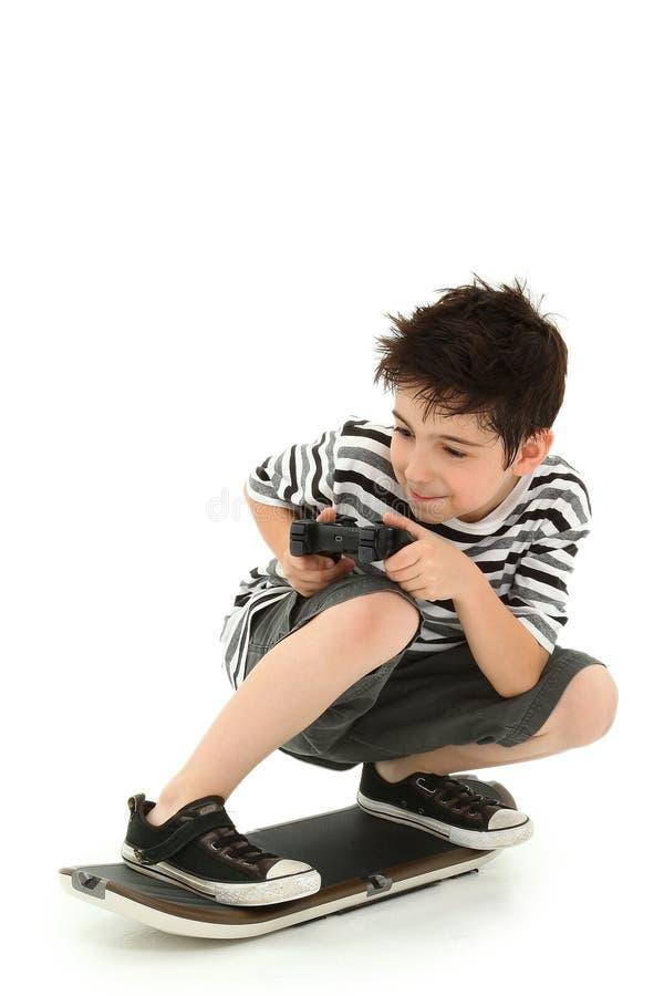 Jogador interno do skate do jogo video fotografia de stock