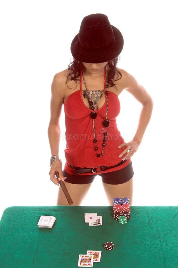 Jogador 'sexy' do Blackjack fotografia de stock royalty free