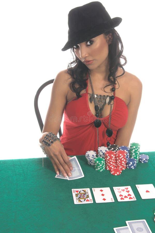Jogador 'sexy' do póquer imagens de stock royalty free