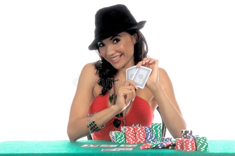 Jogador 'sexy' do póquer fotografia de stock