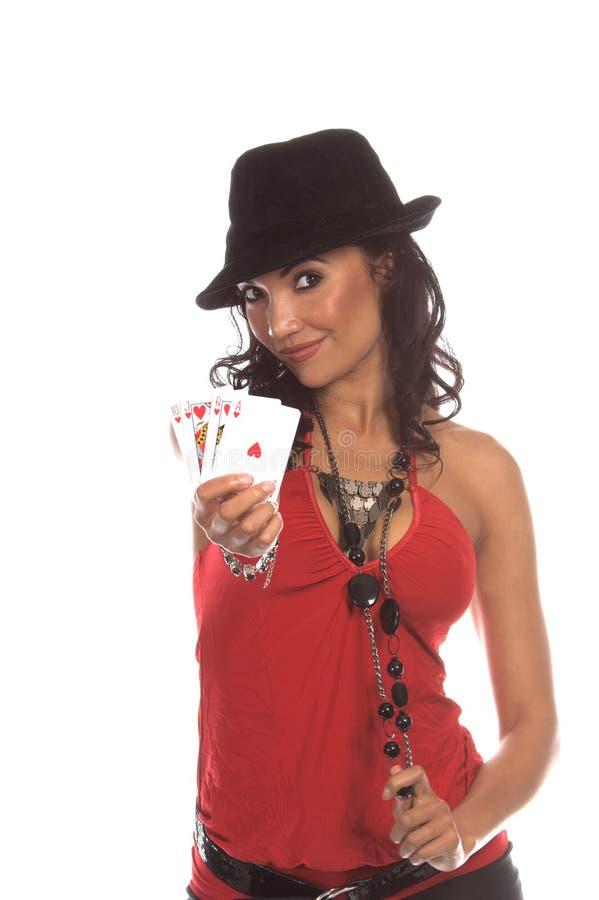 Jogador 'sexy' do póquer foto de stock