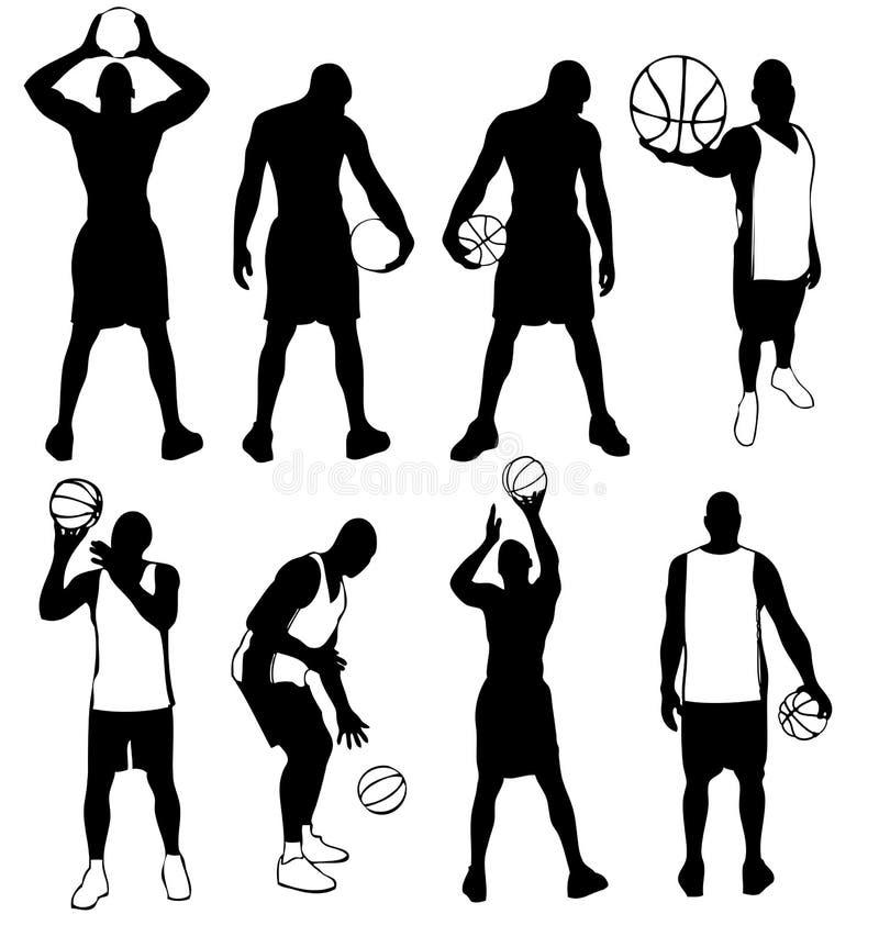 Jogadores de basquetebol. ilustração stock
