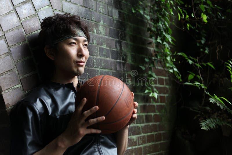 Jogadores de basquetebol foto de stock royalty free