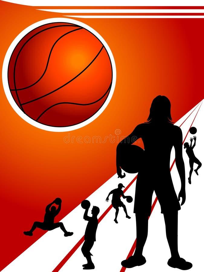 Jogadores de basquetebol ilustração royalty free