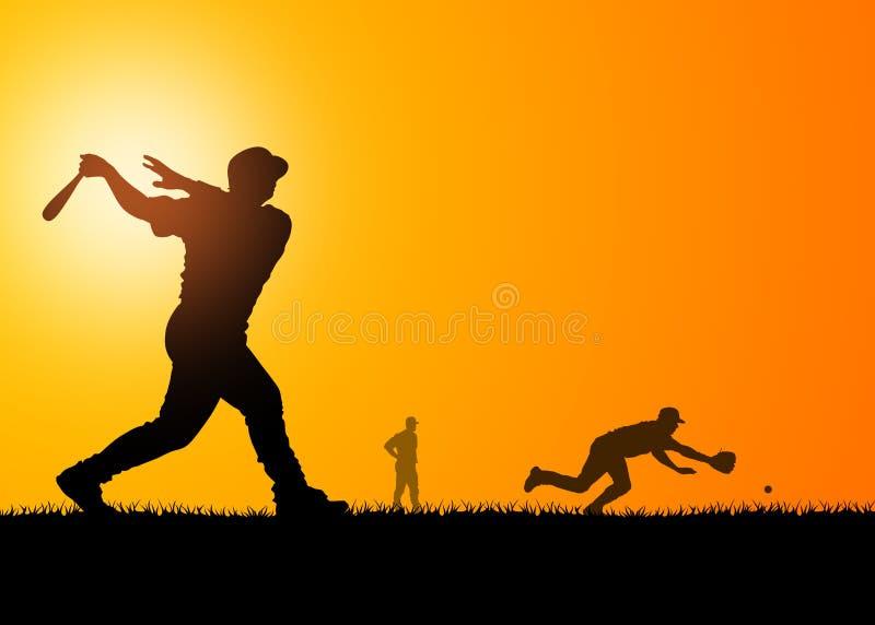Jogadores de beisebol ilustração do vetor