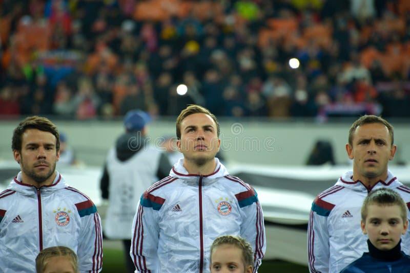 Jogadores de FC Baviera imagens de stock royalty free