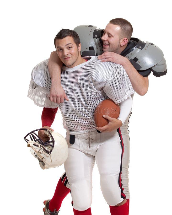 Jogadores de futebol americano. fotos de stock