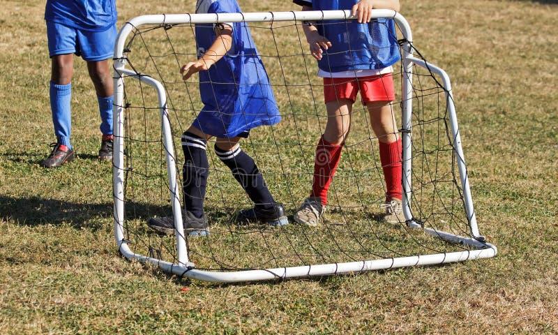 Jogadores de futebol, guarda-redes imagens de stock