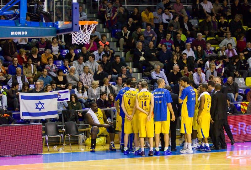 Jogadores de Maccabi imagem de stock