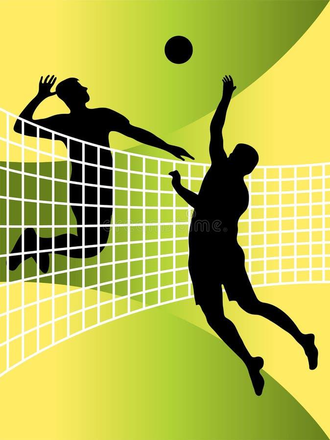 Jogadores de voleibol ilustração stock