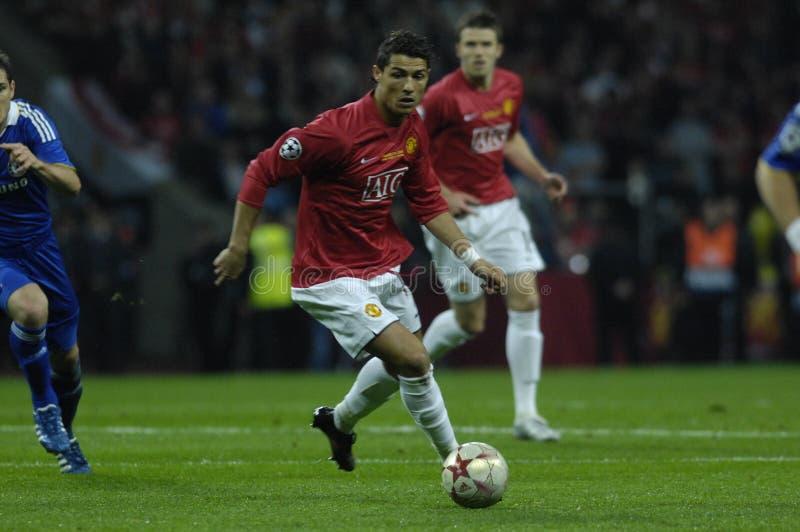 Jogadores do futebol 2009 de France os melhores 30 - Ronaldo fotografia de stock