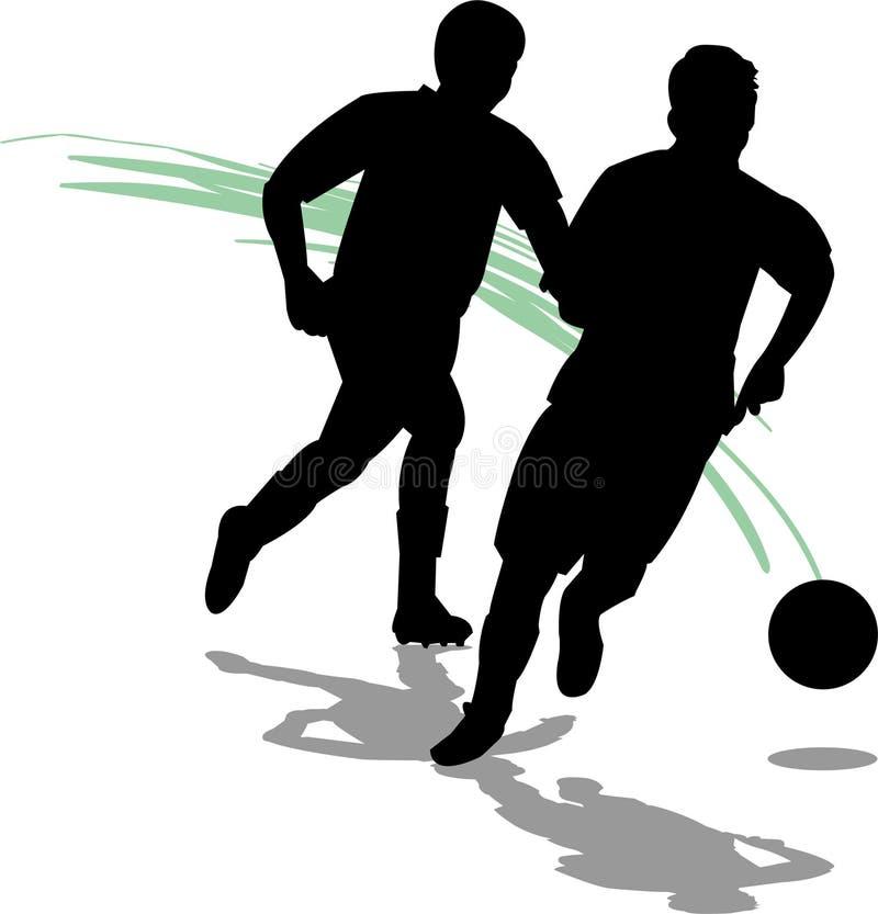 Jogadores do futebol/futebol/eps ilustração do vetor