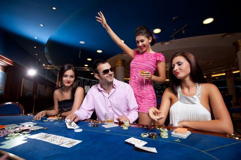 Jogadores do póquer fotografia de stock royalty free