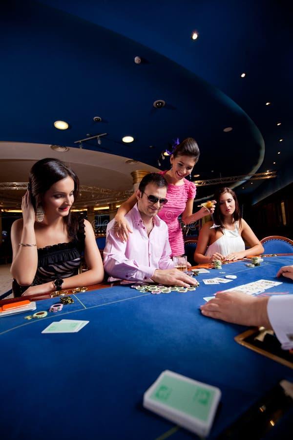 Jogadores do póquer imagens de stock
