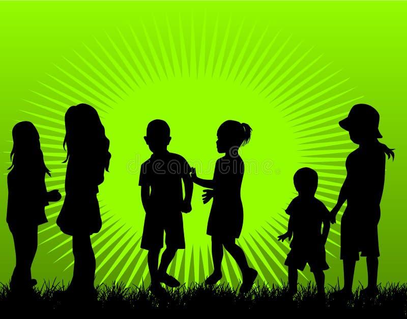 Jogando crianças ilustração do vetor