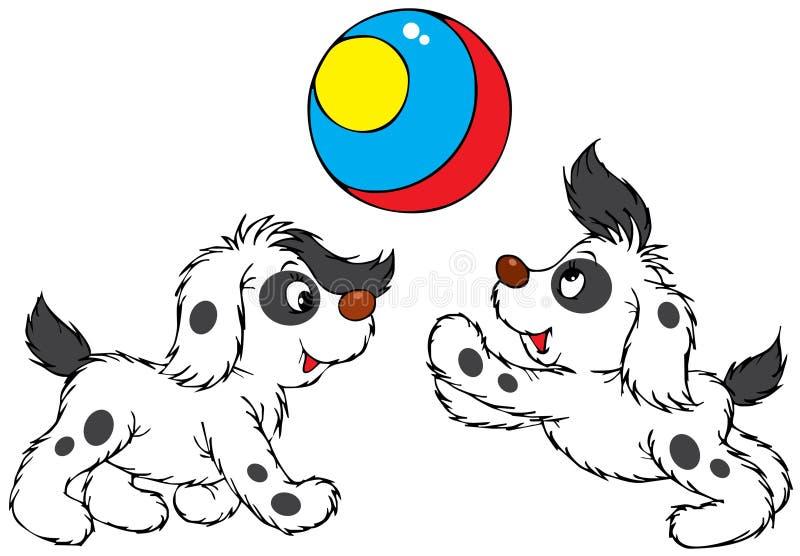 Jogando filhotes de cachorro ilustração stock