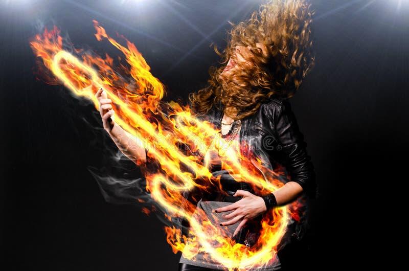 Jogando a música rock fotografia de stock royalty free