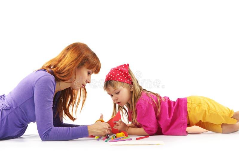 Download Jogando a matriz e a filha imagem de stock. Imagem de horizontal - 12812003