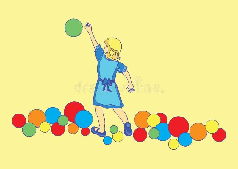Download Jogando a menina ilustração do vetor. Ilustração de ilustração - 12808396