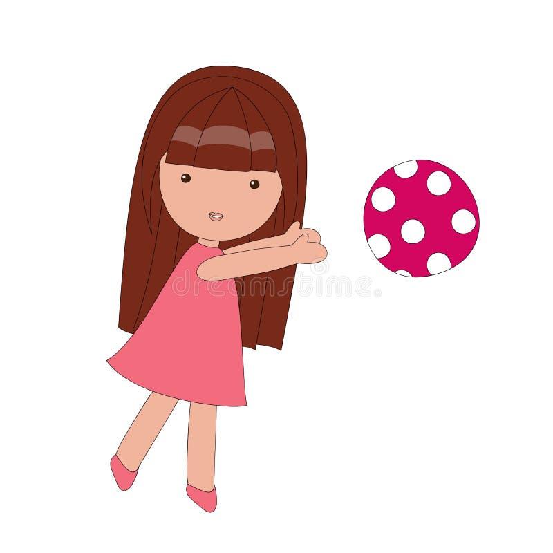 Jogando a menina ilustração royalty free