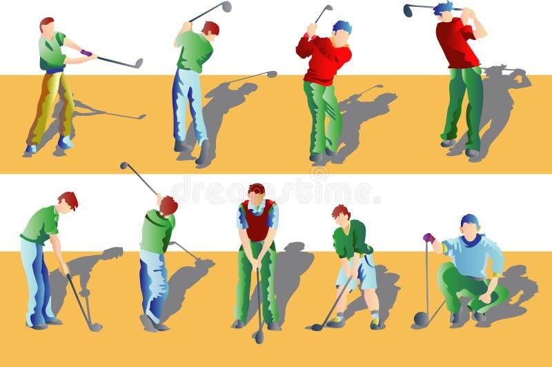 Jogando o golfe ilustração royalty free