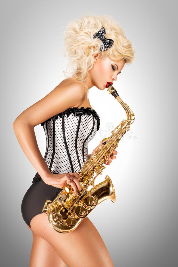 Jogando o jazz fotos de stock royalty free