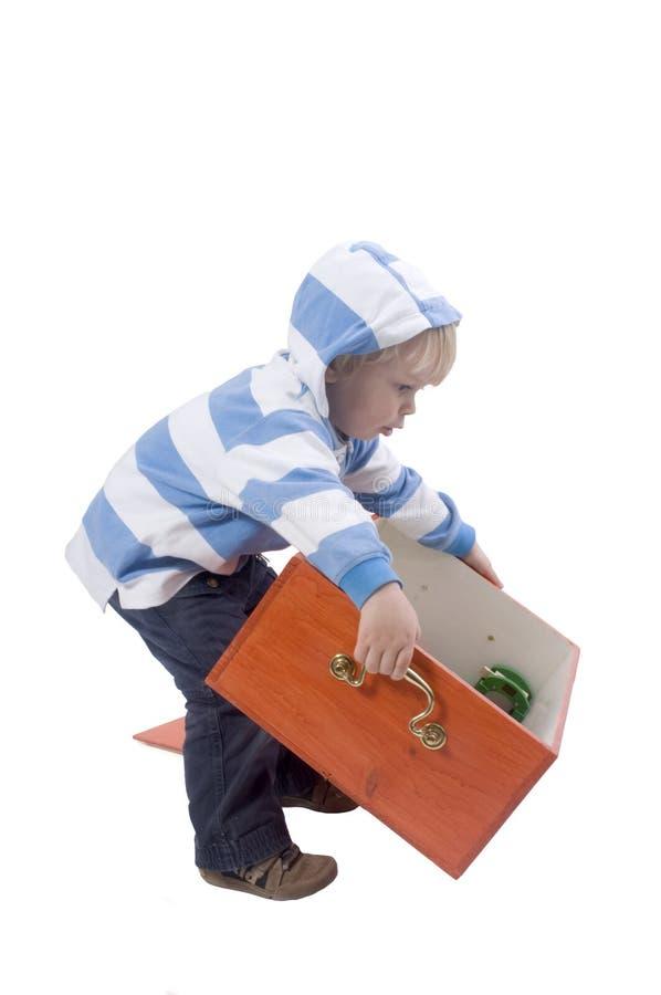 Jogando o menino imagens de stock