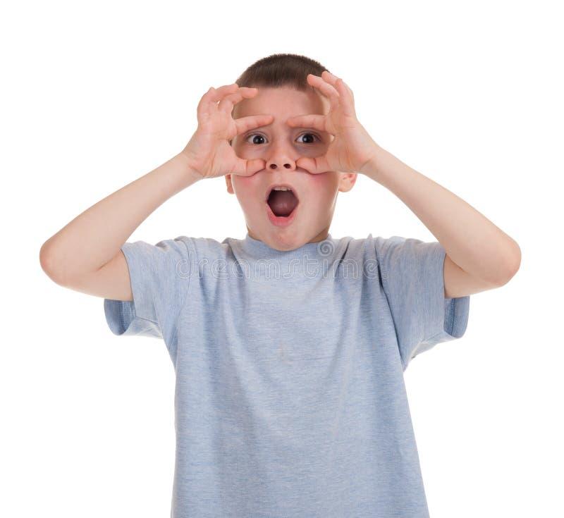 Download Jogando o menino no branco imagem de stock. Imagem de grimace - 29827751