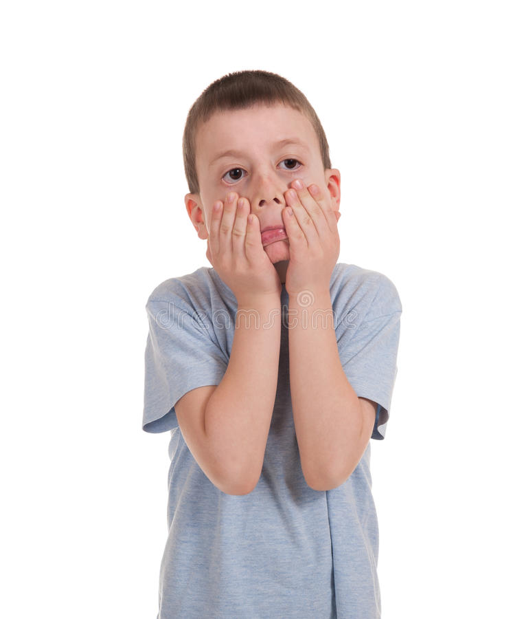 Download Jogando o menino no branco foto de stock. Imagem de jogo - 29827786