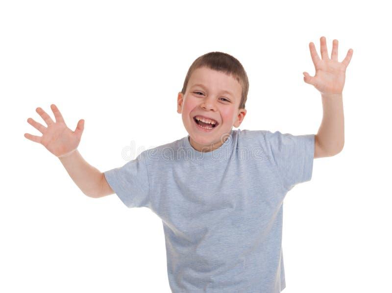 Download Jogando o menino no branco foto de stock. Imagem de braço - 29828094