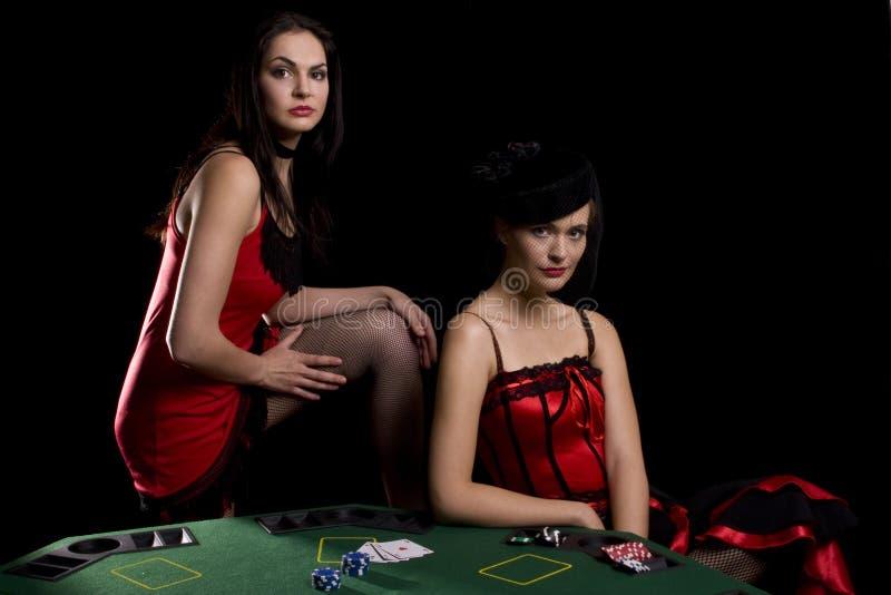 Jogando o póquer imagens de stock