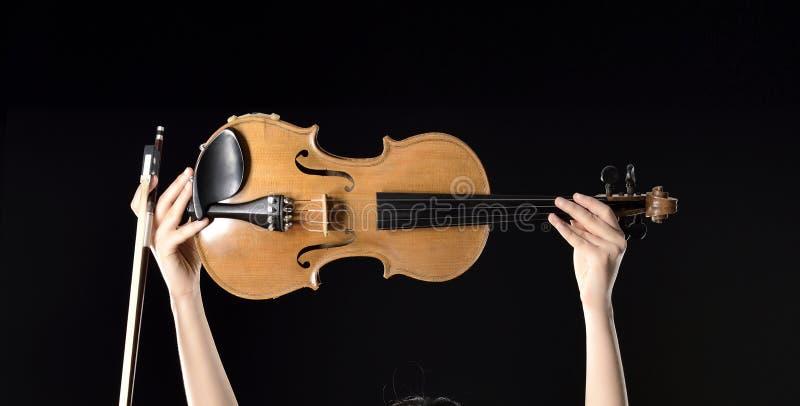 Jogando o violino fotografia de stock