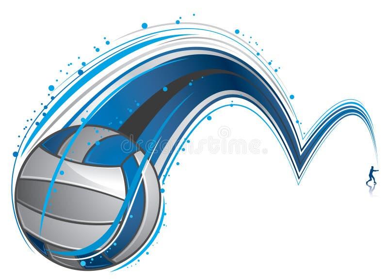Jogando o voleibol ilustração do vetor