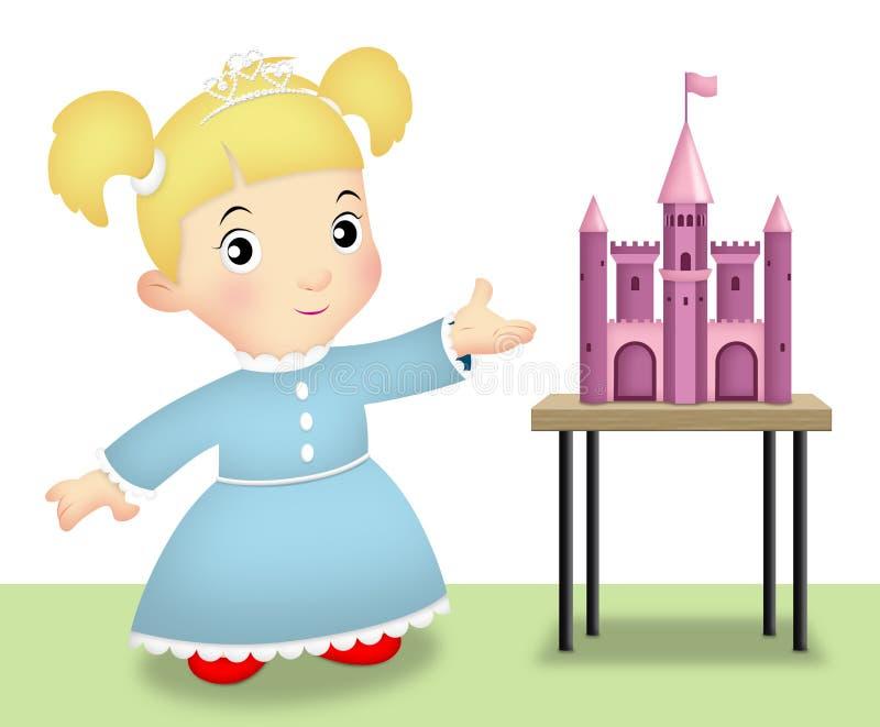 Jogando a princesa ilustração stock