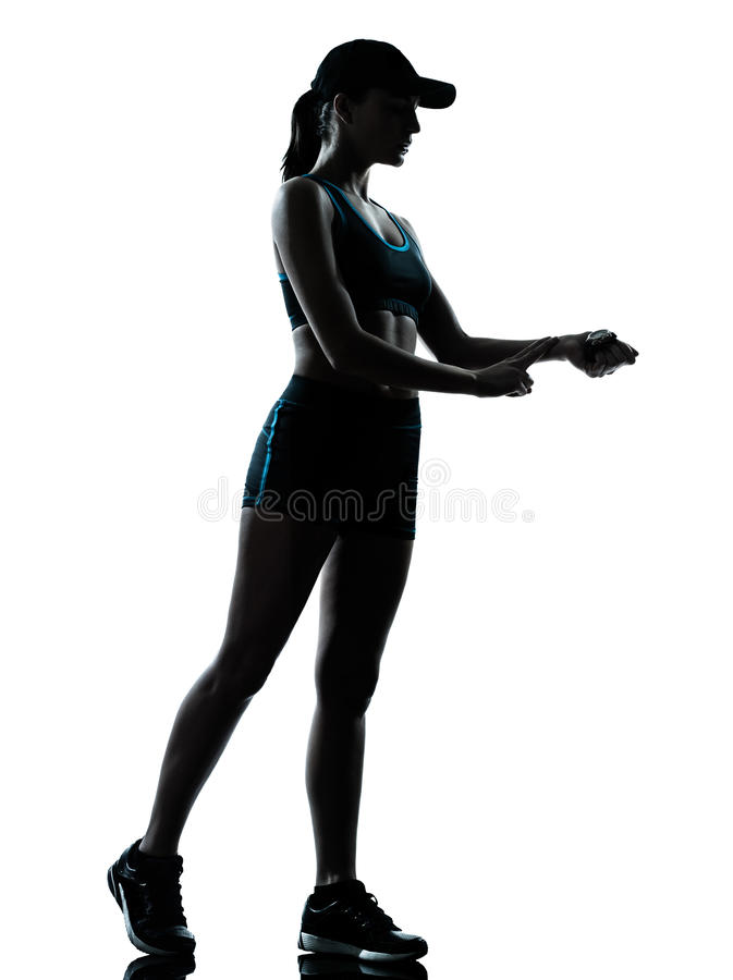 Jogger бегуна женщины стоковое фото rf