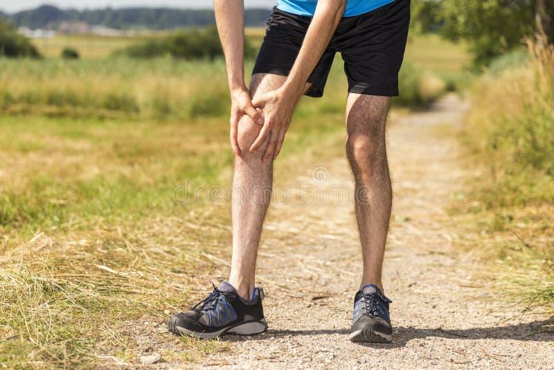 Jogger раненый стоковые изображения