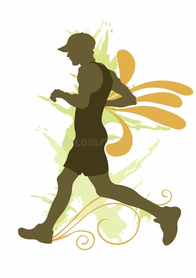 jogger vektor illustrationer