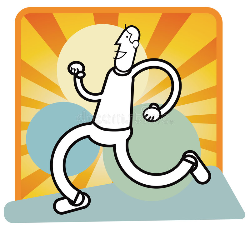 Jogger. Illustrative stylized figure of a jogger, concept for healthy lifestyle. eps version available vector illustration