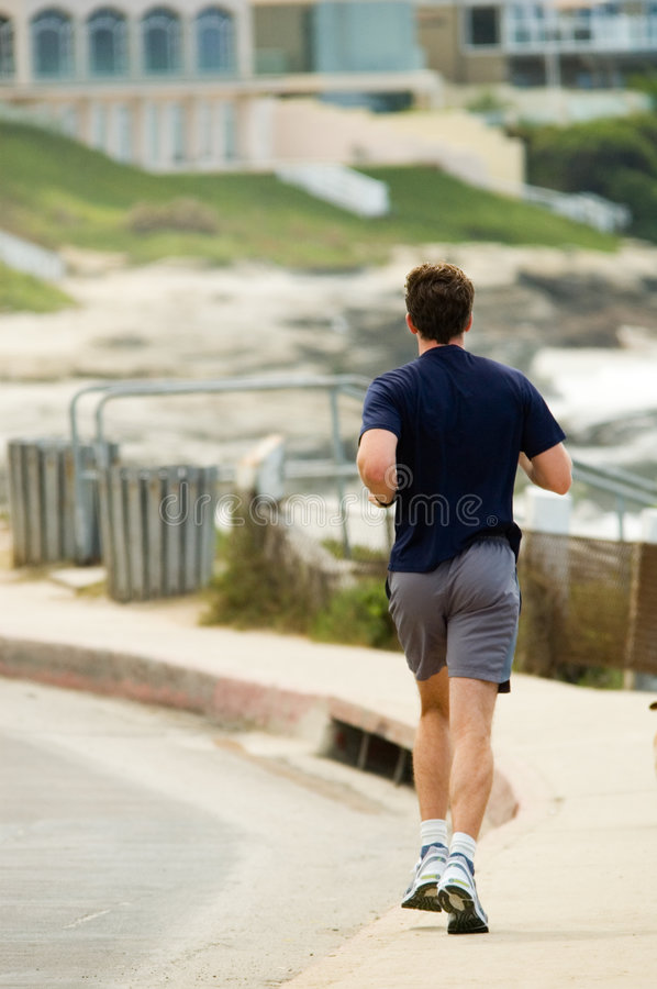 Download Jogger on boardwalk stock image. Image of beach, outdoors - 1501077