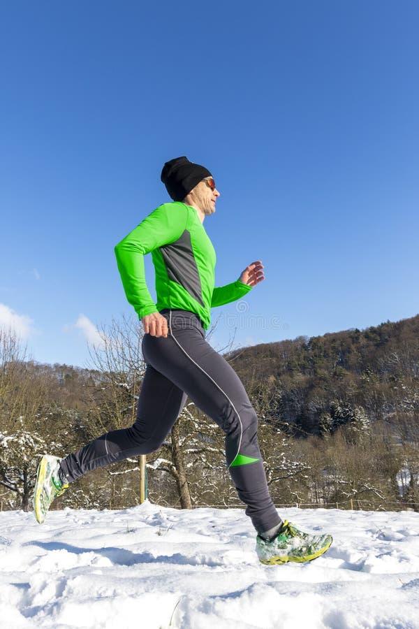 Jogger i sundown royaltyfri foto