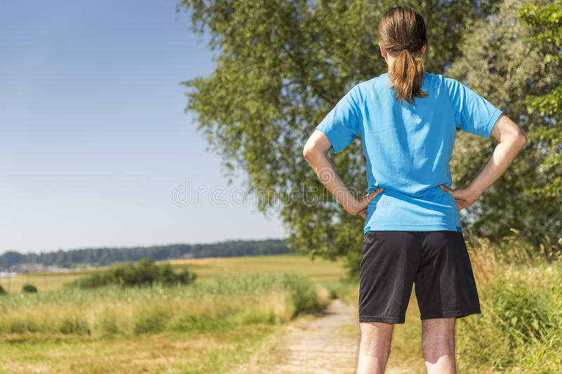 Jogger man standing royalty free stock images