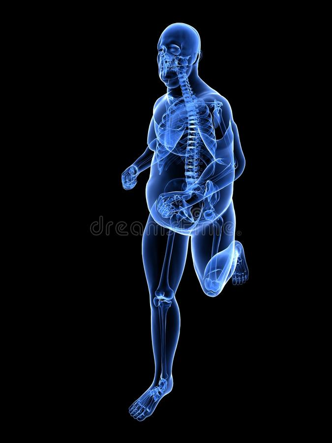 jogger nadwaga ilustracja wektor