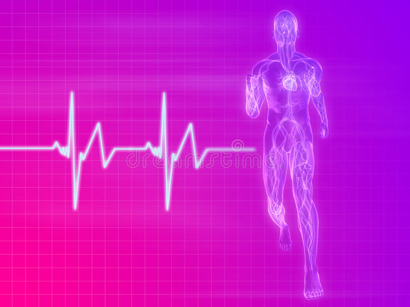 jogger puls ilustracji